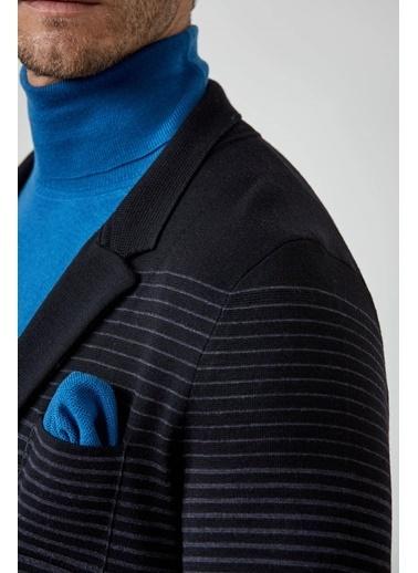 Hemington Hemington Erkek Örgü Petrol Si Ceket Mendili Mavi